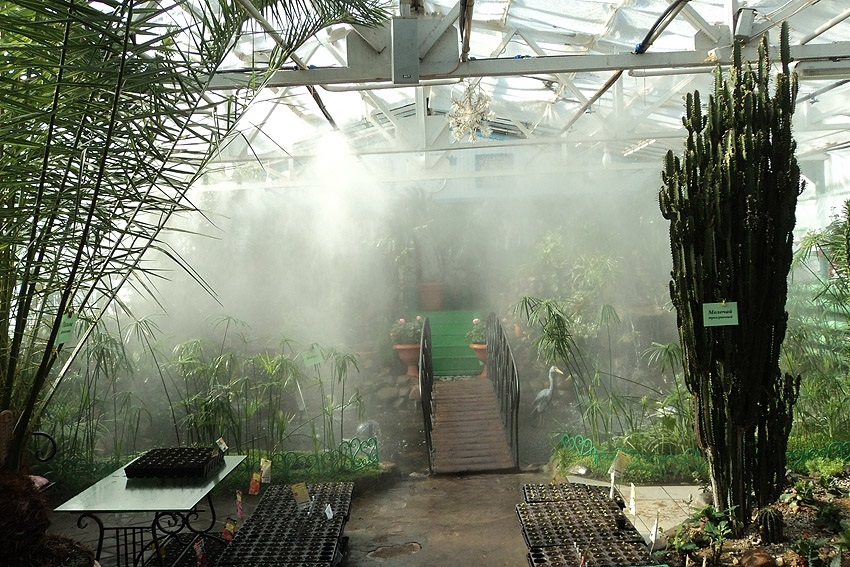 Система полива в зимнем саду
