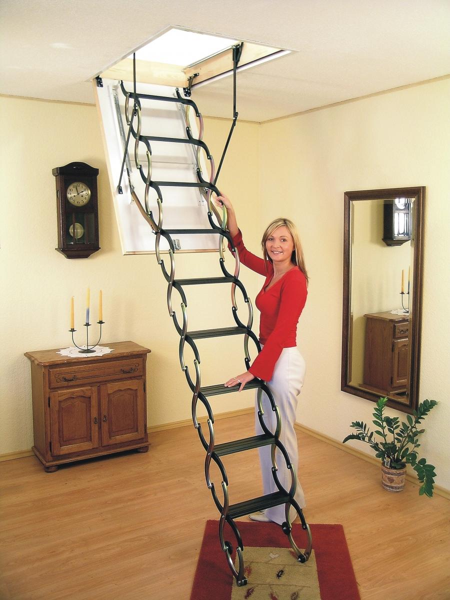 Чердачная лестницы своими руками