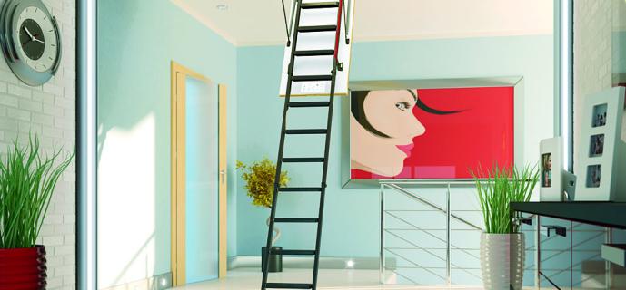 Раскладные лестницы на чердак в частном доме