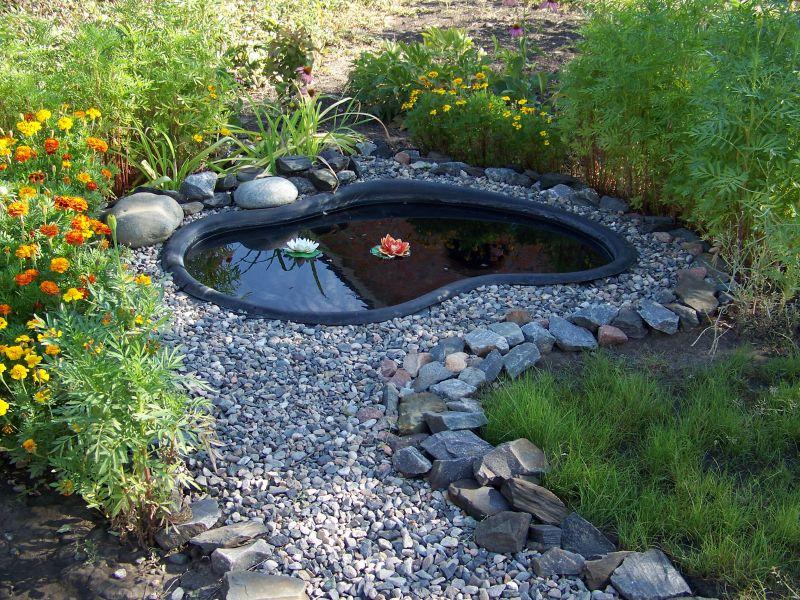 обустройство декоративного водоема