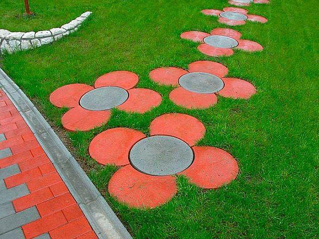 Плитка на садовые дорожки своими руками 40